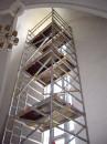 Aluminiumställning 1,70x1,40m, bred/kort, upp till 7,30 m