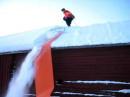 Snöhyvel/takräv för tak, 7m glidpresenning