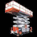 Saxlift, 17,2 m utomhusgående 4-hjulsdriven, dieseldriven