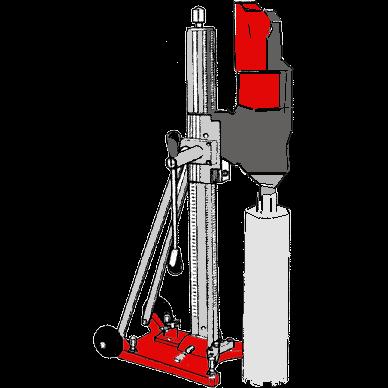 Diamantborrmaskin med bultstativ -350 mm